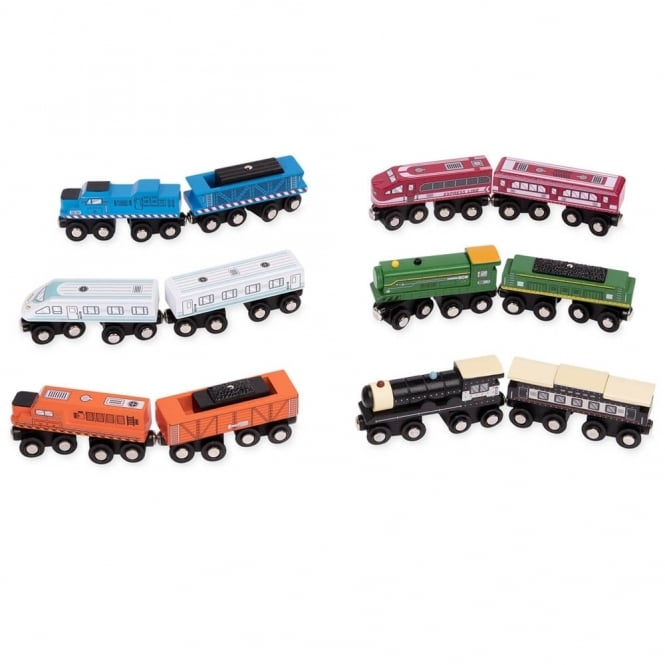 Magnetic Trains Pack Of 24
