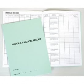 Medicine Record Book (Green)