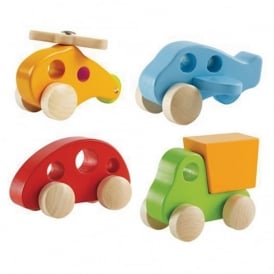 Mini Wooden Vehicles Pack