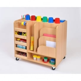 Mobile Art Resource Trolley with 24 Resource Pots