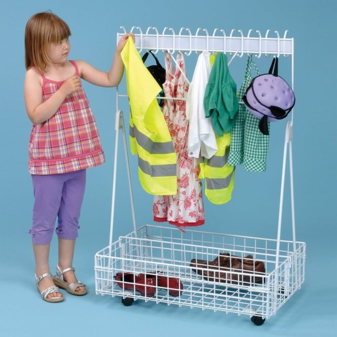 Mobile Cloakroom Storage Trolley - Imaginative Play from Early Years ...