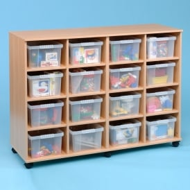 Mobile Flexi Storage Unit With 16 Trays