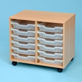Mobile Unit With 12 Clear Shallow Trays