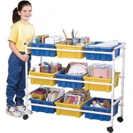 Multipurpose Storage Cart With 9 Trays