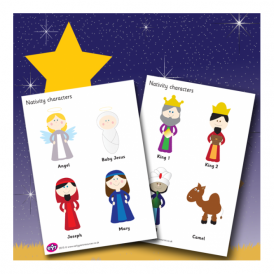 Nativity Character Cut-out Set