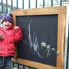 Outdoor Chalkboard With Frame