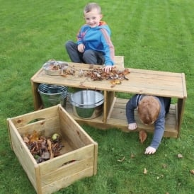 Outdoor Discovery Bench & Crates