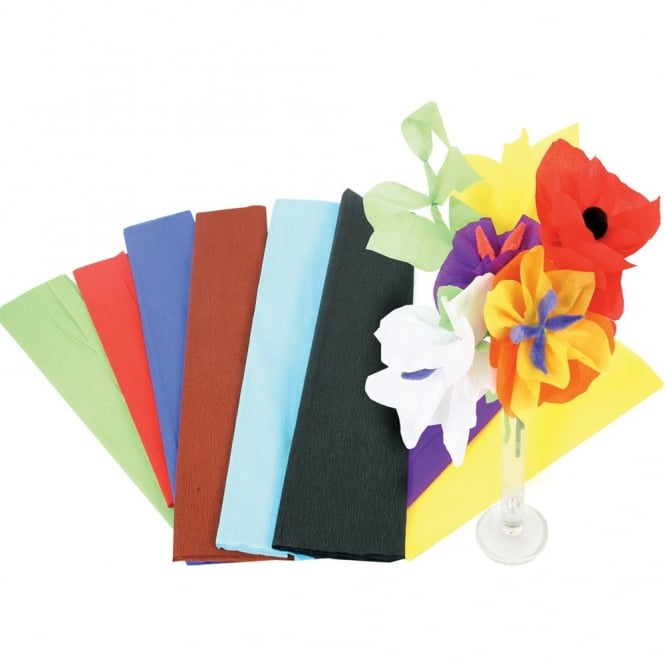 Pack Of 10 Crepe Paper Assortment
