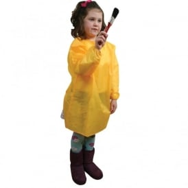 Pack of 10 Waterproof Yellow Smocks (60cm or 65cm)