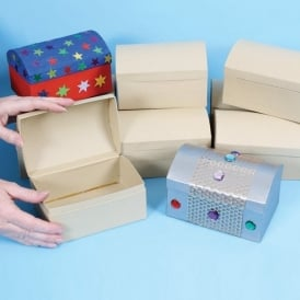 Pack of 12 Treasure Chest Card Boxes