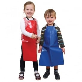 Pack of 4 Children's PVC Aprons (55cm Or 65cm)