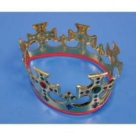 Pack Of 6 Majestic Plastic Crowns
