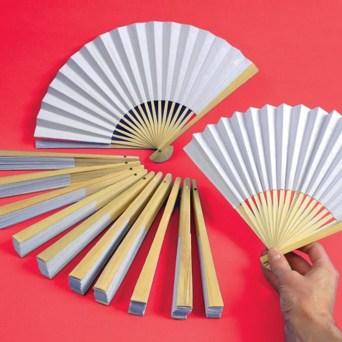 Paper Fans - Pack Of 12