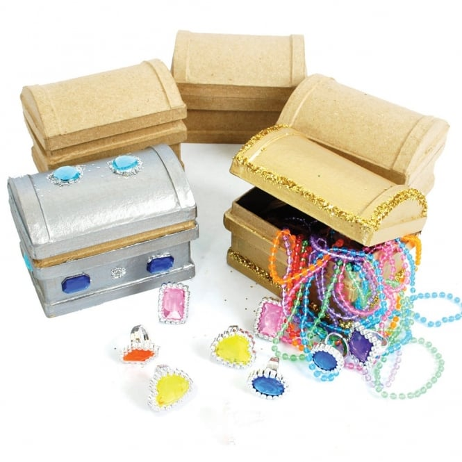 Papier Mache Treasure Chests (Pack of 5)