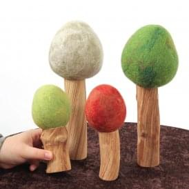 Papoose Four Seasons Tree Set Of 4