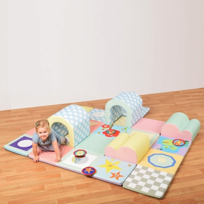 Pastel Sensory Mats and Toddler Tunnel Set
