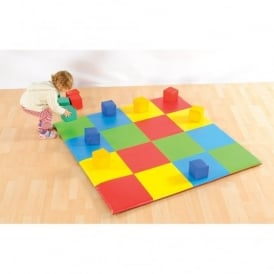 Patchwork Activity Mat With 12 Blocks