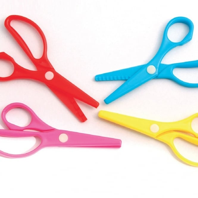 Plastic Safety Scissors Pack Of 20