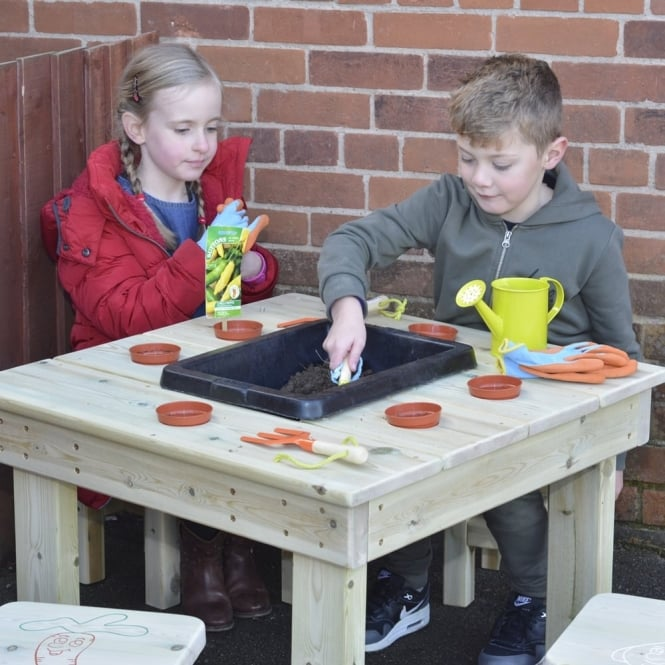 Potting Table And Stools