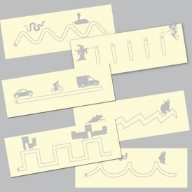 Pre handwriting Pattern Skills Tracing Boards
