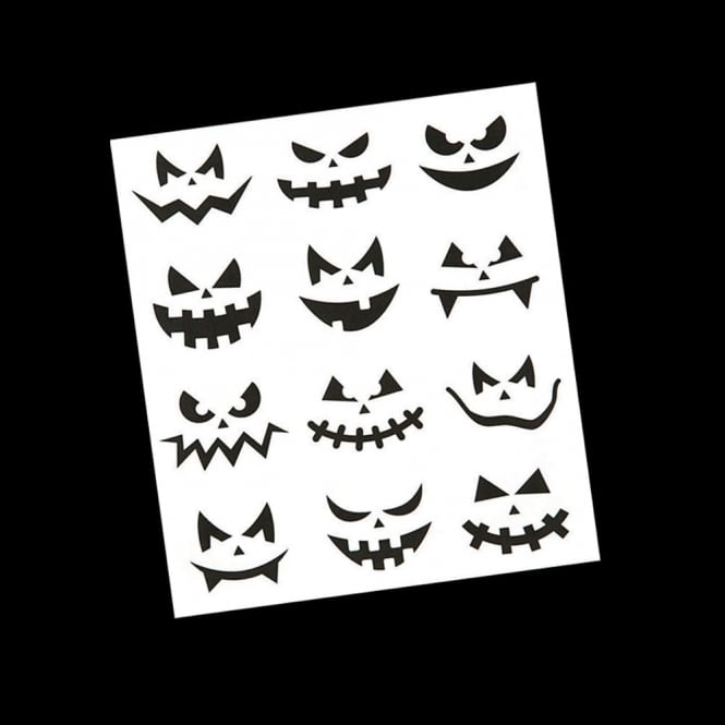 Pumpkin Face Stickers