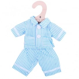 Pyjama Set For 28cm Doll - Blue