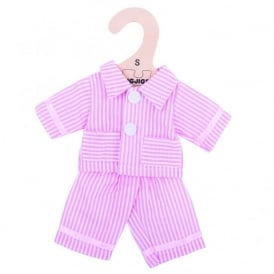 Pyjama Set For 28cm Doll - Pink