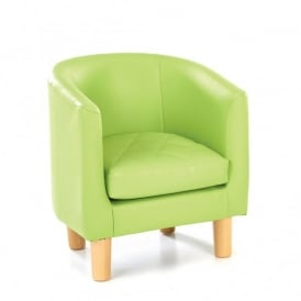 Quilted Tub Chair Green