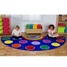 Rainbow Semi Circle Carpet 3 X 1.5m