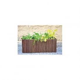 Rectangular Willow Planters with Grow Bags Set