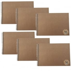 Recycled A4 Sketchbooks - Pack of 6