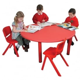 Red Round Classroom Tough Table