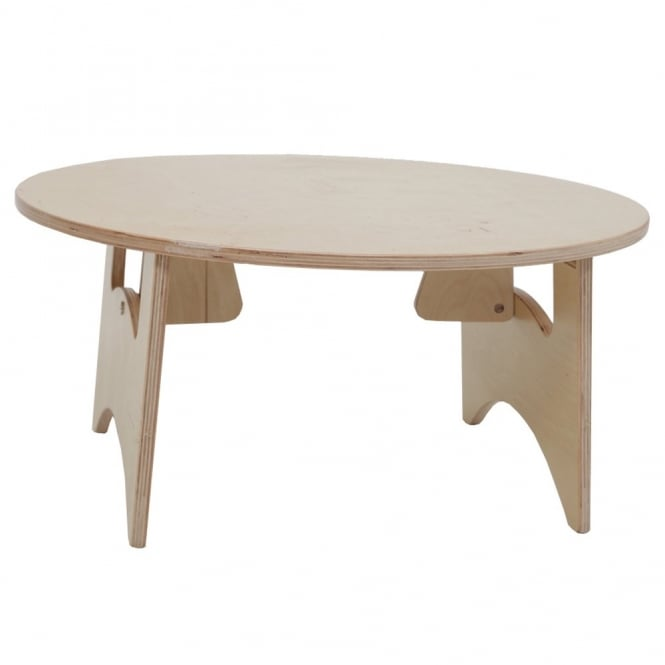 Round Light Panel Table