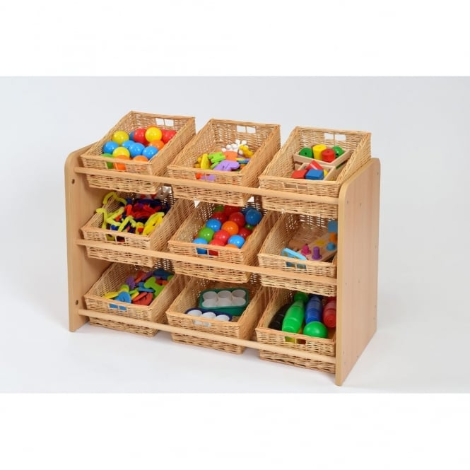 RS Range Classroom Tidy With 9 Willow Baskets
