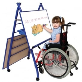 Specially Adapted Double Mobile Easel Blue