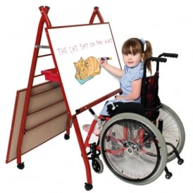 Specially Adapted Double Mobile Easel Red