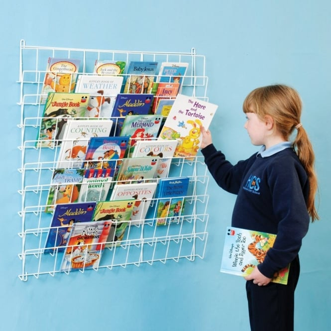 Square Wire Book Rack (Wall Mounted)
