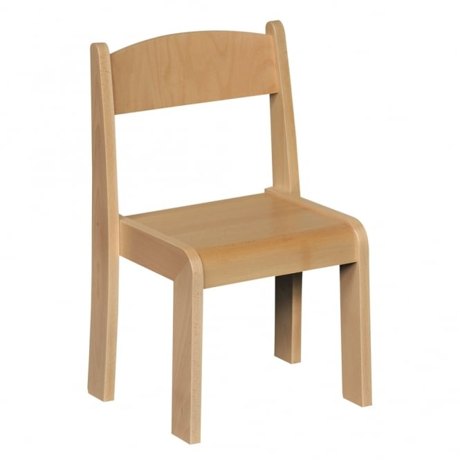 Stackable 31cm Beech Chair - Pack of 4