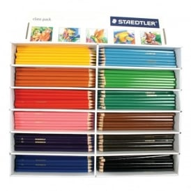 Staedtler Standard Size Colouring Pencils - Class Pack