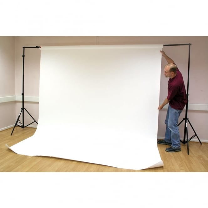 Stage Or Photography Backdrop Stand And 11m Arctic White Paper Roll