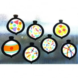 Stained Glass Baubles