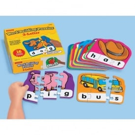 Three Letter Word Building Puzzles