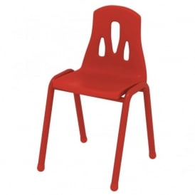 Thrifty Red Stackable Chair - Pack of 4
