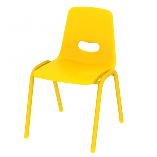 Thrifty Yellow Stackable Chairs   Pack Of 4