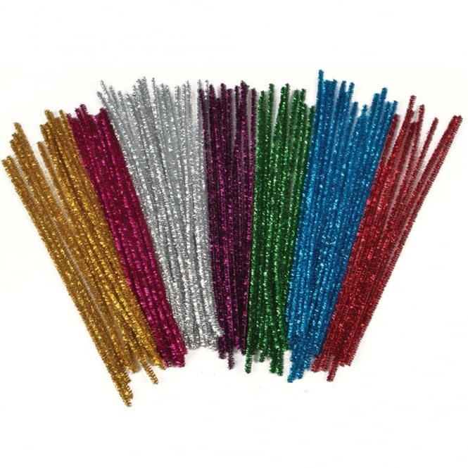 tinsel pipe cleaners 30cm art craft from early years resources uk