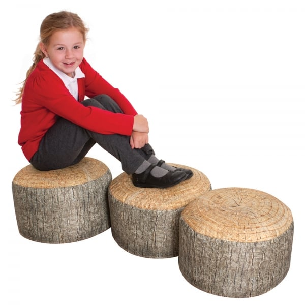 Tree Stump Seats 3 Furniture From Early Years Resources Uk