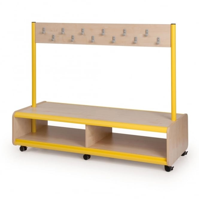 Trudy Mobile Cloakroom Bench 24 Or 32 Hook Furniture