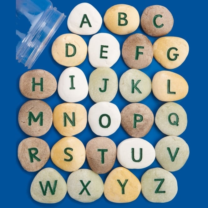 Uppercase Letter Pebbles