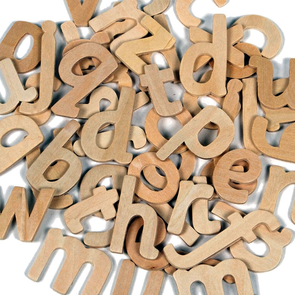 uppercaselowercase wooden letters