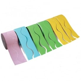 Wavy Pastel Corrugated Border Rolls Assortment Pack Of 6